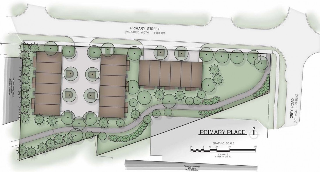 Primary Place Townhomes Downtown Auburn Hills | Steuer & Associates Inc - base_site_plan
